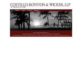 Costello, Royston and Wicker, P.A.