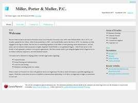 Miller, Porter and Muller, P.C.