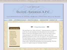 David C. Anderson, APC