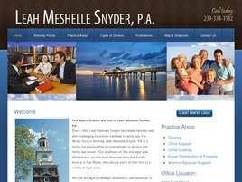 Leah Meshelle Snyder, P.A.